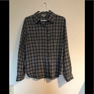 Casual plaid blouse